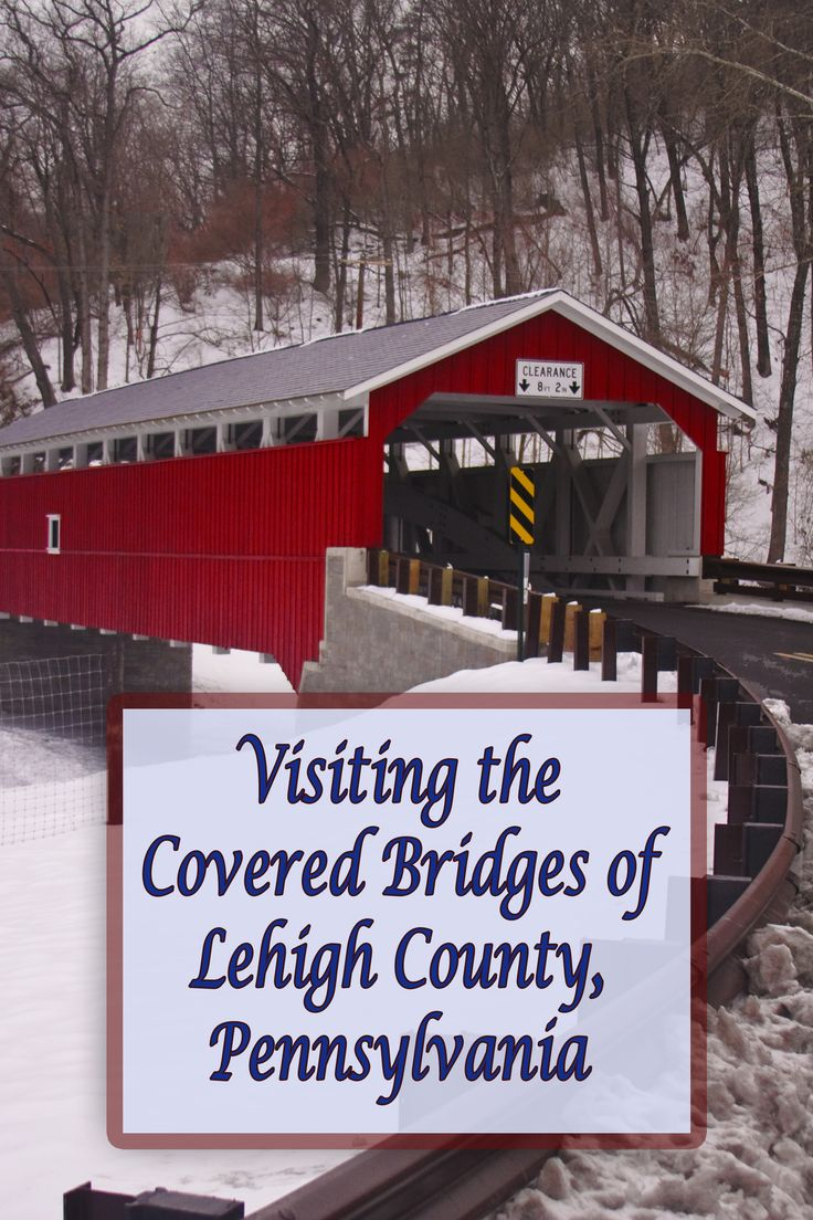 Lehigh County, Pennsylvania has 6 awesome covered bridges near Allentown. Find out how to get to them and see more photos here: http://uncoveringpa.com/visiting-covered-bridges-lehigh-county-pennsylvania