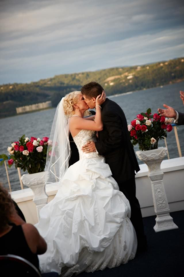 Considering a Wedding Cruise Brides, if you book your wedding on one of our 4 cruise boats for the month of May 2013, recieve two FREE drink tickets per guest. Call to book today!  1-800-365-8338 Ext. 7742  Lake Coeur d' Alene, ID. Book with Capt. Brandon and DJ Rogue for an event you'll always remember.