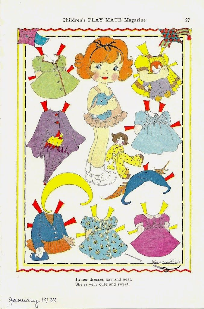 The Paper Collector: Children's Play Mate Magazine, 1938 * 1500 free paper dolls Christmas gifts artist Arielle Gabriels The International Paper Doll Society also free paper dolls The China Adventures of Arielle Gabriel *