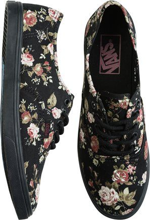 VANS AUTHENTIC LO PRO SHOE i don't know what it is about shoes with floral print on em i just like em:)