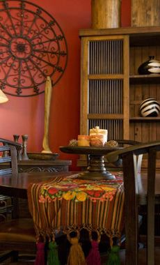 Spanish Style Color ChangeA ColorDining Room