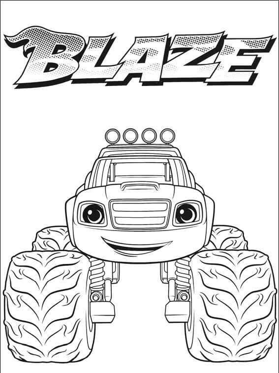 Blaze And The Monster Machines Coloring Pages Buku Mewarnai Lembar Mewarnai Binatang