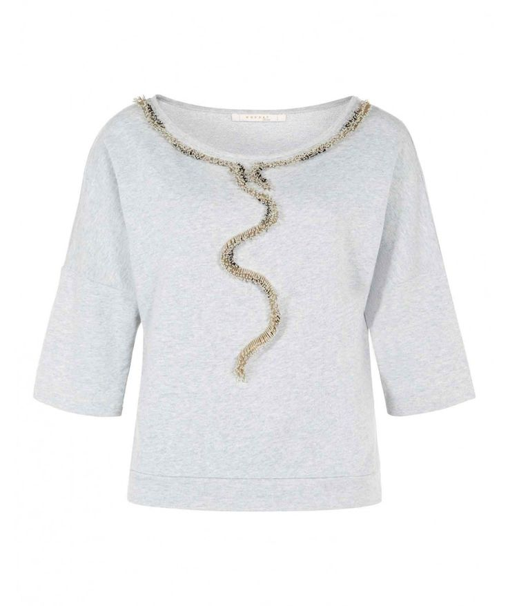 Bugle Embellished Cotton Sweatshirt