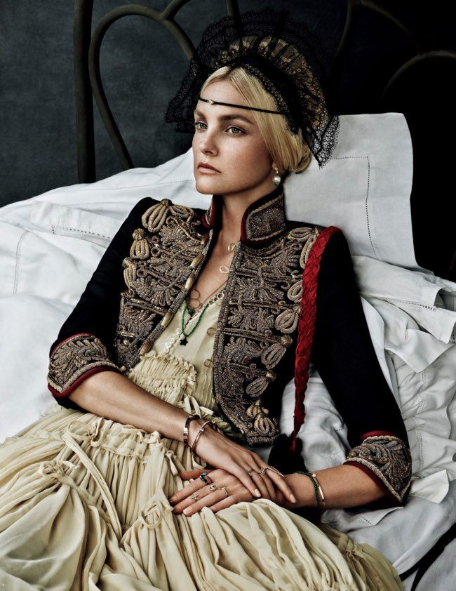 Caroline Trentini in Caroline's Symphony for Vogue Japan October 205 Shot by Giampaolo Sgura Inspired by Classic Paintings. l #hautecouture