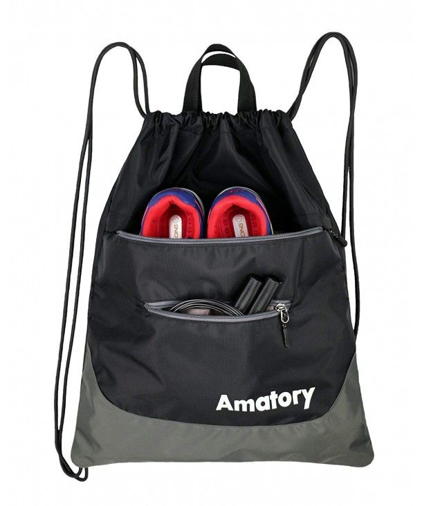 a9f714c819db Drawstring Backpack Sports Gym String Bag Cinch Sack Gymsack ...