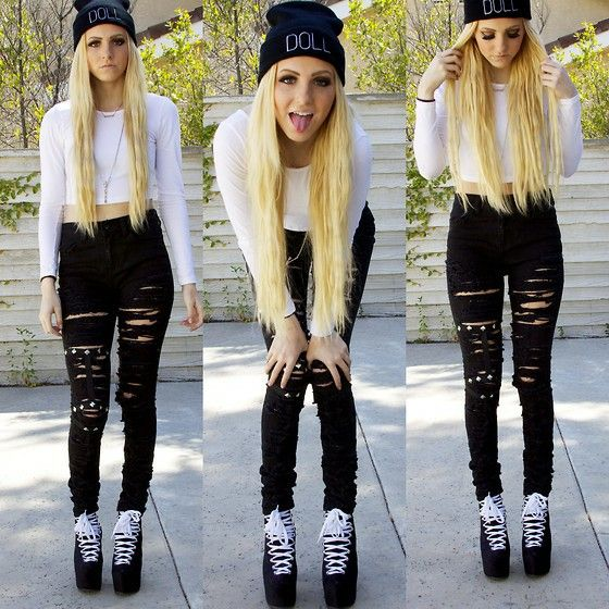 64 best High waist jeans and crop tops images on Pinterest | Cute ...