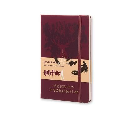 Harry Potter Limited Edition Notebook Large Ruled Red - Expecto Patronum - Moleskine ®