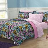 Found it at Wayfair - Neon Leopard Bed-In-A-Bag Set