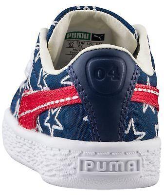 Puma Basket Classic 4th Of July Preschool Sneakers