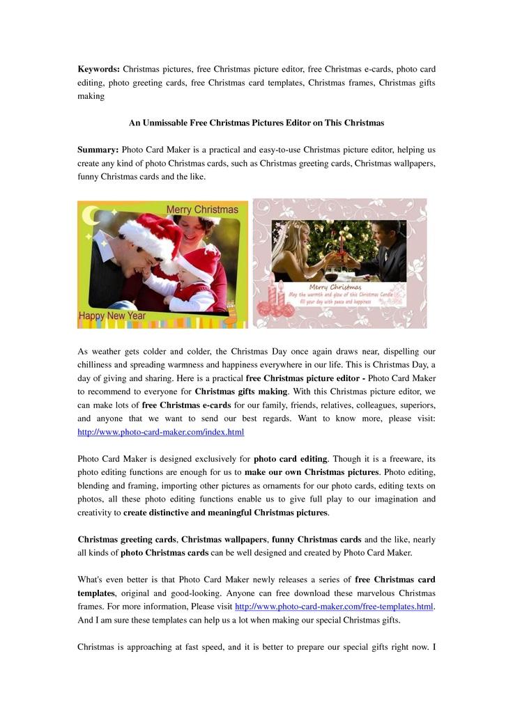 25+ unique Online christmas card maker ideas on Pinterest Money - online greeting card template