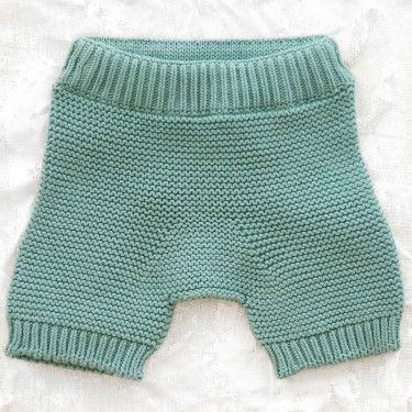 seesaw knitted shorts - blue