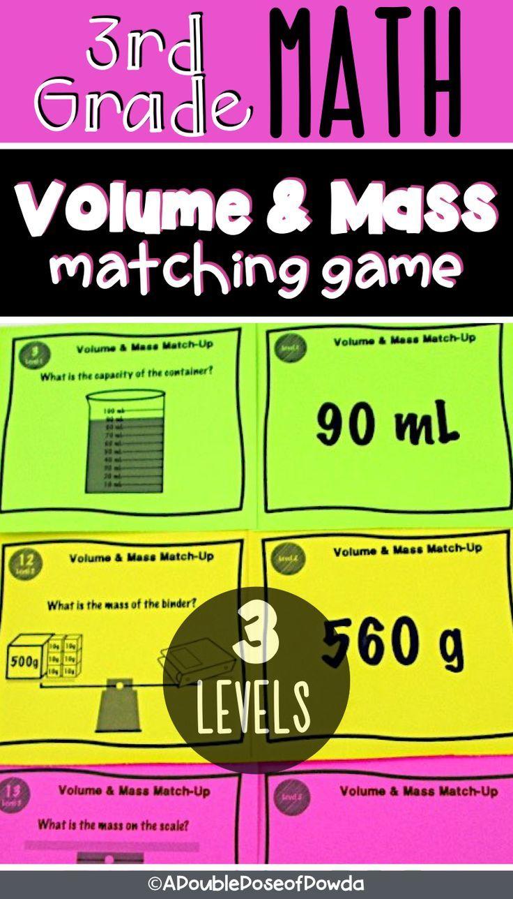 Grams Kilograms Liters and Milliliters Metric Activities Matching Game    Volume worksheets [ 1288 x 736 Pixel ]