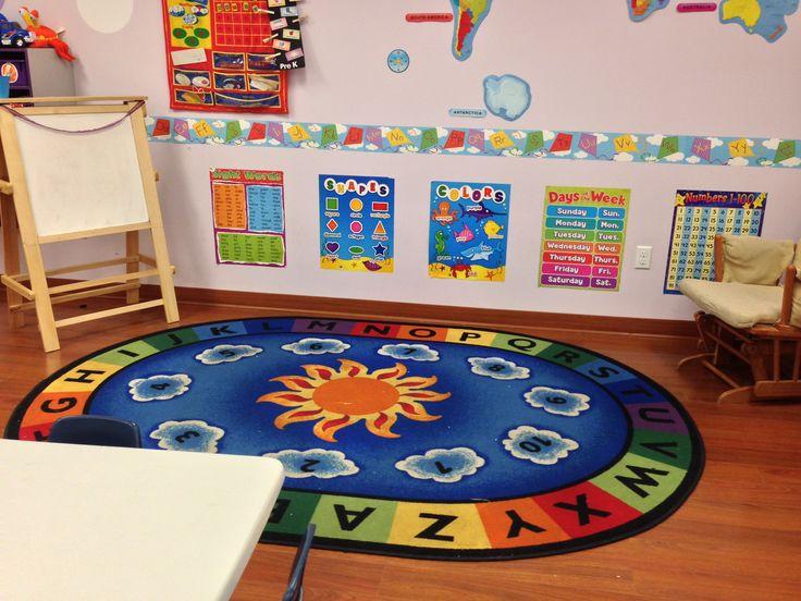 Circle time area. | Preschool math games, Classroom decor ...