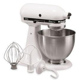 Kitchenaid Classic 4.5-Quart 10-Speed White Stand Mixer Ksm75wh