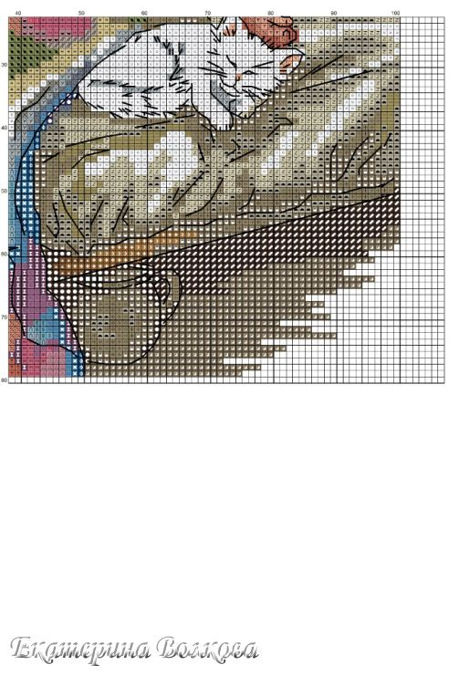 Cross-stitch Let's Grow Old Together, part 8... color chart on part 2... Gallery.ru / Фото #7 - Настоящая любовь - appolinaria74