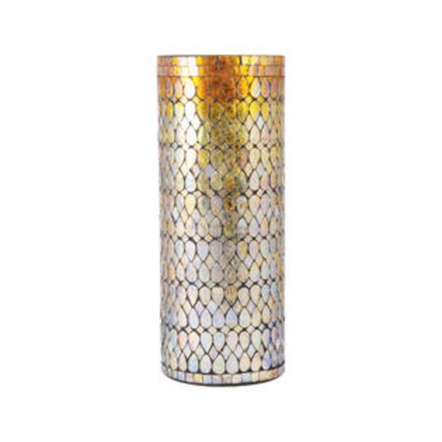 Elk Pomeroy Capelo Amber Shimmer Mosaic Vase Large 439346