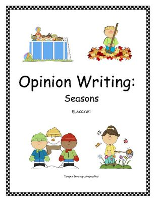 Opinion Writing: Seasons (Common Core) from Dr. Clements' Kindergarten on TeachersNotebook.com -  (7 pages)  - Opinion Writing: Seasons - Many more opinion writing topics available