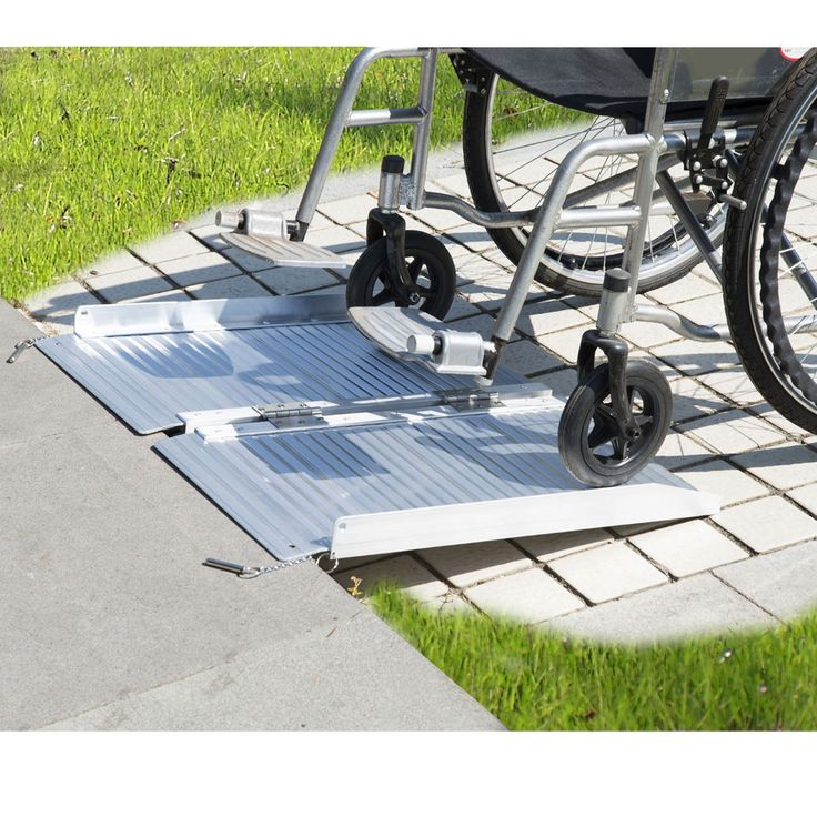 2' Aluminum Fold Portable Wheelchair Ramp Mobility Handicap Suitcase Threshold | eBay