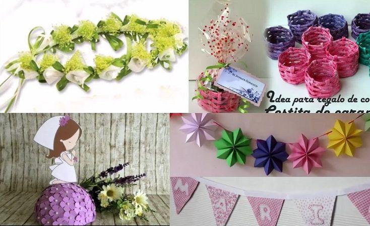 92 best images about decoracion de fiesta on pinterest - Manualidades para primera comunion ...