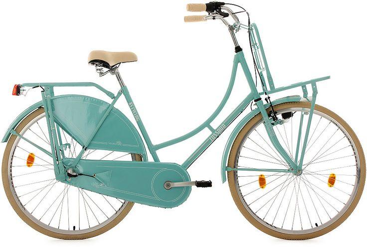 Ich glaube, ich brauche ein neues Fahrrad: ein gemütliches Hollandfahrrad in Mint :-) KS Cycling Hollandrad mit Lastenträger, 28 Zoll, mint, 3-Gang-Shimano-Nexus-Schaltung, »Tussaud«