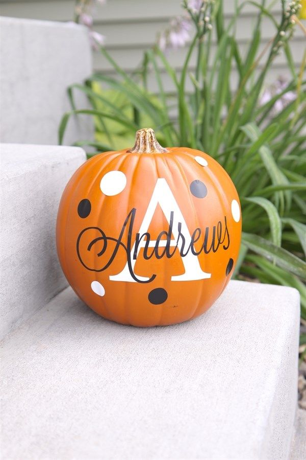 Personalize Your Pumpkin for Halloween & Fall with these removable Decals | $6.99 on Jane.com