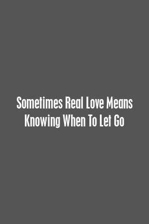 Às vezes, amor verdadeiro significa saber quando deixar ir  – Relationship Rules