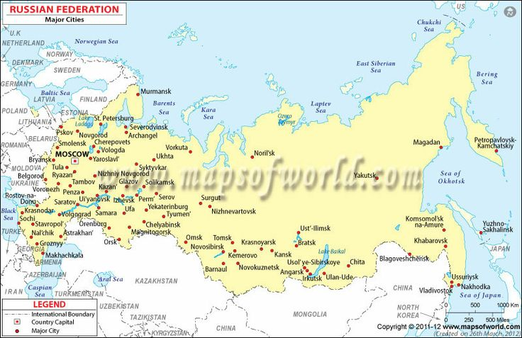Map Of Russian Cities Google Search Maps Pinterest City: Printable Map Of Russia With Cities At Infoasik.co