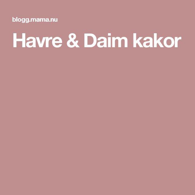 Havre & Daim kakor
