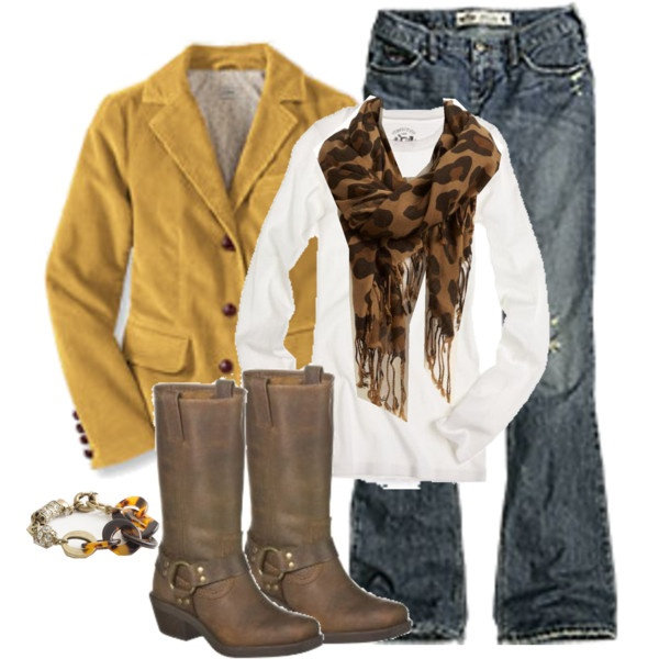 cool outfit.: Colors Combos, Fashion Style, Fall Colors, White Shirts, Fall Outfits, Leopards Scarfs, Leopards Prints, Mustard Blazers, Cute Jackets