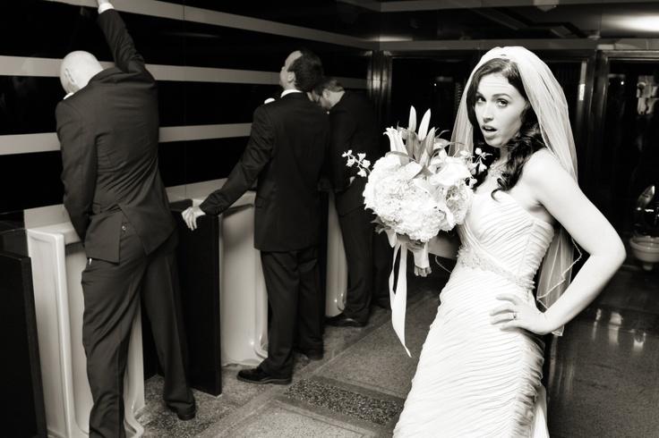 Bride In Mens Bathroom Restroom Hermitage Hotel Nashville Photograph Taken By Derek Lee