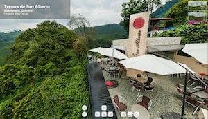 La Terraza de San Alberto, un lugar fantástico para tomar el mejor café del mundo, con una vista espectacular hacia el Paisaje Cultural Cafetero