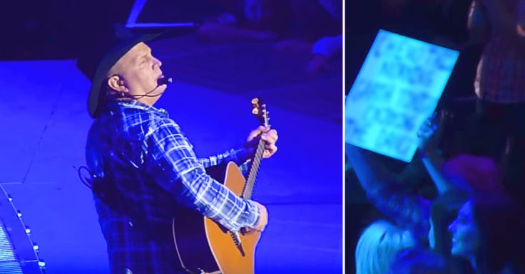 When Garth Brooks noticed a woman in the crowd holding up a sign at his concert in Minneapolis he had to step off stage, but the moment he confronts her brought a tear to my eye.