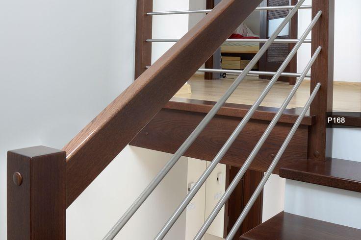 K5 Schody na konstrukcji metalowej   balustrada stal + drewno
