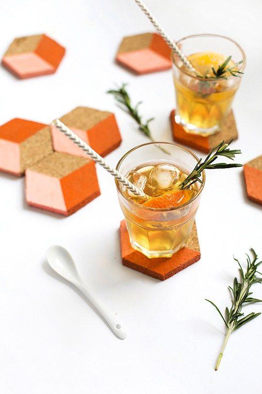 DIY geometric coasters  | www.homeology.co.za