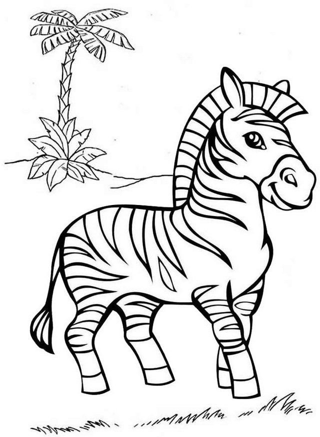 Zebra #Animal Zoo Animal Coloring Pages, Zebra Coloring Pages, Animal Coloring  Pages
