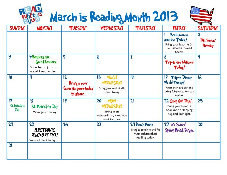March Calendar Ideas : Best i love to read month ideas images on pinterest