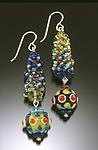 Art Glass & Silver Earrings by Bernadette Mahfood