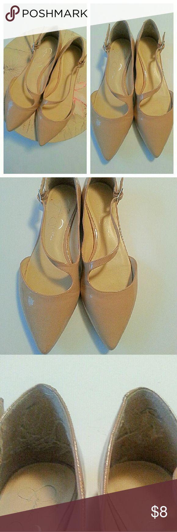 Jessica simpson flats Nude patent leathe flats size 8.5 Jessica Simpson Shoes Athletic Shoes