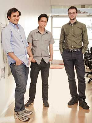 The three founders of Pinterest. Thanks guys!