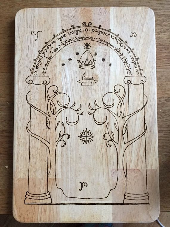 Lord of The Rings Doors of Dorin Hand Burned by FrodoInWonderland