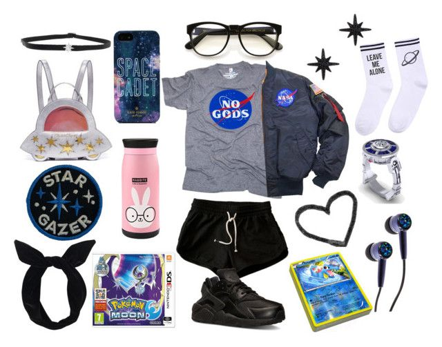 """""""Nasa's Volleyball team"""" by supernova-1000 ❤ liked on Polyvore featuring Wildfox, Yeah Bunny, NIKE, APM Monaco, Charlotte Olympia, Kate Spade, Shay and Lulu in the Sky"""