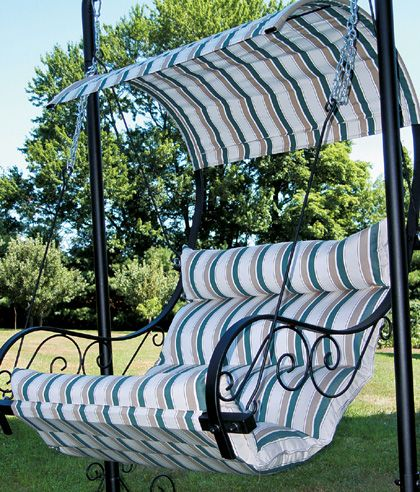 Patio Swing, Loved The Scrolled Arms!