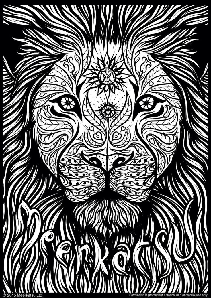 158 best oh my lions images on pinterest | animals, drawings and ... - Coloring Pages Lions Tigers