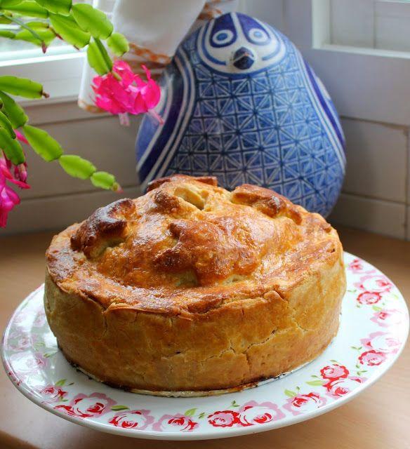 Cocinar es vivir y Bordar también: Pastel inglés de jamon y pollo / English Ham and chicken pie