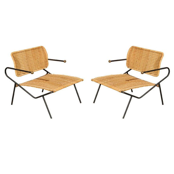Pair of Dan Johnson lounge chairs | From a unique collection of antique and modern armchairs at http://www.1stdibs.com/furniture/seating/armchairs/