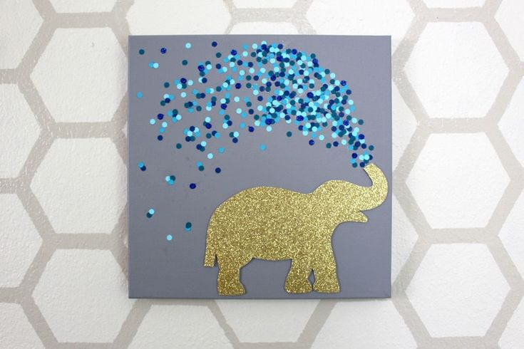 How to decorate a canvas. 30 Minute Elephant Canvas - Step 18