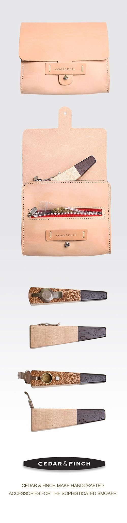 Cannary leather pouch and custom lidded pipe.  http://thehempoilbenefits.com