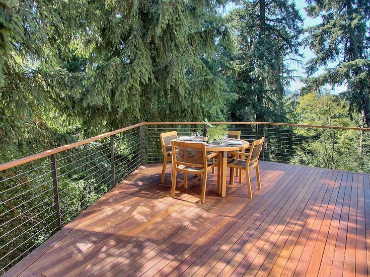 seattle horizontal deck railing with top standard height outdoor dining sets9- contemporary and cantilever steel cable