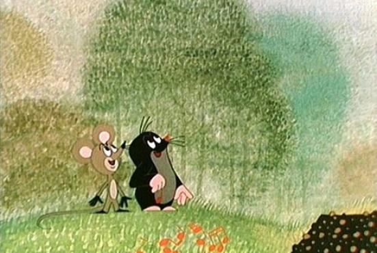 Krtek and friend mouse