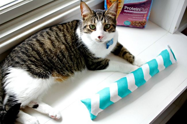 Do Your Cats Love To Play This Diy Cat Toy Fabric Kick Stick Is An Easy Project That Your Cats Will Love To Kick And Throw Cat Toys Cat Diy Diy